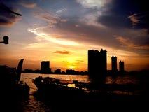 Dîner à Bangkok Images libres de droits
