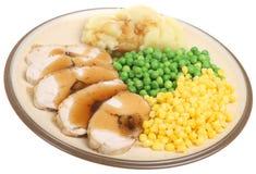 Dîner bourré de blanc de poulet Photographie stock