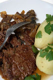 Dîner braisé de bifteck de ragoût de boeuf photo stock