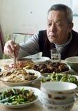 Dîner chinois de famille Photo stock