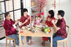 Dîner chinois de la Réunion de nouvelle année photos stock
