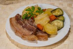 Dîner délicieux de porc Photos stock