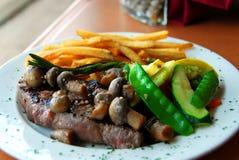 Dîner de bifteck Image stock