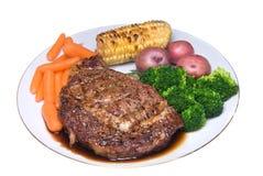 Dîner de bifteck photos stock