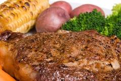 Dîner de bifteck photo stock