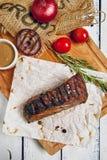 Dîner de bifteck de boeuf Photos libres de droits