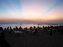 Dîner de coucher du soleil Image stock