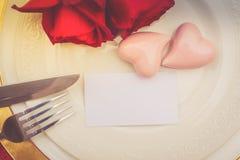 Dîner de jour de valentines photographie stock libre de droits