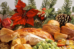 Dîner de la Turquie de Noël Photos stock