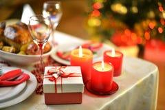 Dîner de Noël Images libres de droits