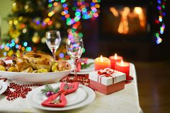 Dîner de Noël photographie stock libre de droits