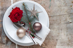 Dîner de Noël Photos stock