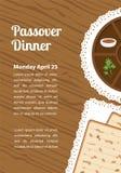 Dîner de pâque, pesach de seder table avec le plat de pâque et la nourriture traditionnelle illustration libre de droits