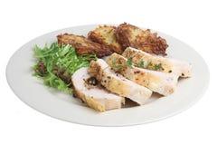 dîner de poulet de sein bourré Photographie stock libre de droits