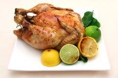 Dîner de poulet rôti Image stock