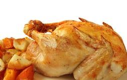 Dîner de poulet rôti images libres de droits