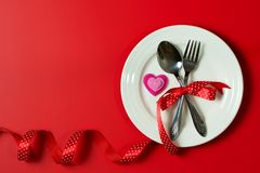 Dîner de Saint Valentin photo libre de droits