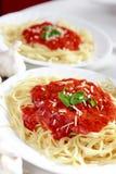 Dîner de Spagetti Photos libres de droits