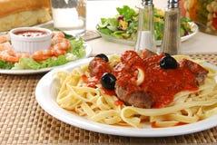 Dîner de spaghetti images stock