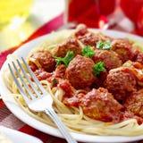 Dîner de spaghetti et de boulette de viande photos stock