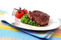 Dîner de steak au poivre Images libres de droits