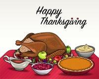 Dîner de thanksgiving Photographie stock libre de droits