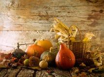 Dîner de thanksgiving sur le bois images libres de droits
