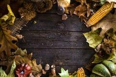 Dîner de thanksgiving sur le bois photo libre de droits