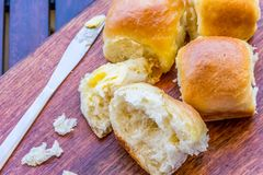 Dîner frais et fait maison Rolls/petits pains Images libres de droits