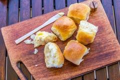 Dîner frais et fait maison Rolls/petits pains Photographie stock