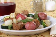 Dîner italien de saucisse Images stock