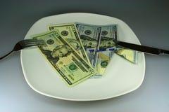 Dîner pour la richesse Photos libres de droits