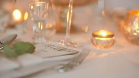 Dîner, Romance, réception de mariage, partie clips vidéos