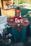 Dîner romantique de Saint Valentin Photos libres de droits