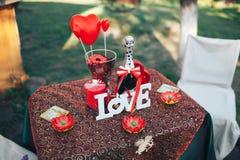 Dîner romantique de Saint Valentin Photos stock