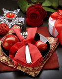 Dîner romantique. Le jour de Valentine Photos stock