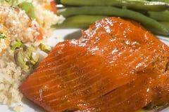 Dîner saumoné gastronome Photos libres de droits