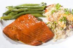 Dîner saumoné gastronome Photo libre de droits