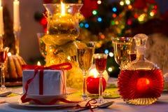 Dînez délicieux Noël images stock