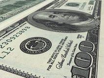 Dólar $100 Fotografía de archivo