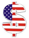 dólar 3D com bandeira dos E.U. Imagens de Stock Royalty Free