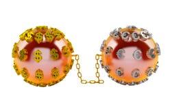 dólar 3D y euro Imagen de archivo libre de regalías