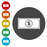 dólar aislado en blanco ilustración del vector