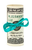 Dólar americano 100 Envolvido pela fita Fotos de Stock Royalty Free