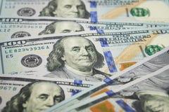Dólar americano 100 Imagem de Stock