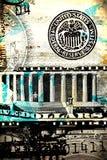 Dólar americano abstracto Imágenes de archivo libres de regalías