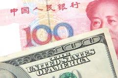 Dólar americano Contra renminbi Imagens de Stock Royalty Free
