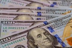 Dólar americano da nota de dólar dos E.U. cem do Estados Unidos Imagem de Stock