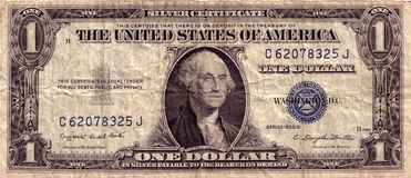 Dólar americano Do vintage Imagem de Stock