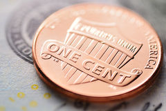 Dólar americano e centavo Fotografia de Stock